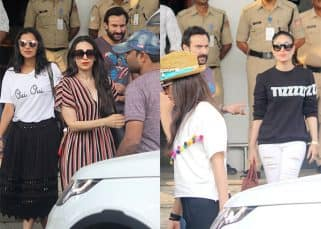 Kareena Kapoor, Saif Ali Khan and Karisma Kapoor return from Goa after Amrita Arora's crazy birthday bash