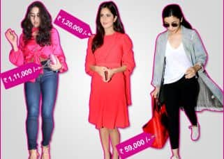 Sara Ali Khan's tiny clutch is just as costly as Katrina Kaif's bright red dress