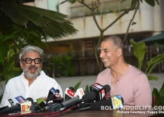 Pad Man avoids clash with Padmaavat, Sanjay Leela Bhansali says he will be grateful to Akshay Kumar for a lifetime - view pics