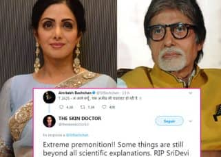 Amitabh Bachchan's nervous tweet minutes before Sridevi's demise gets Twitter talking about premonition