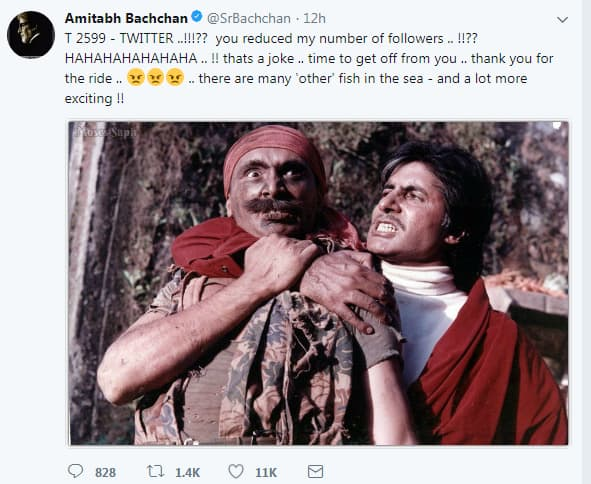 Amitabh Bachchan threatens to quit Twitter because of this Bollywood star