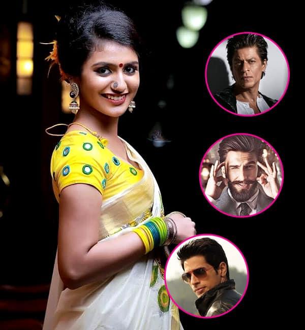 Priya Prakash Varrier is dreaming of 'winking' at Shah Rukh, Ranveer and Sidharth!