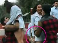 Oops! Rakul Preet escapes wardrobe malfunction by a whisker after Sidharth Malhotra suddenly lifts her – watch video