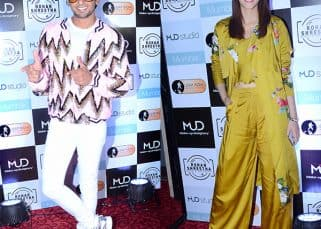 Ranveer's blingy jacket and Kriti's floral summery attire elevates the style quotient at an event – view HQ pics