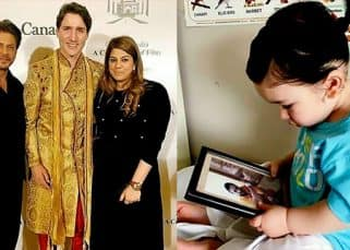 Shah Rukh Khan meeting Justin Trudeau, Taimur Ali Khan staring at Saif Ali Khan's picture: Check out the pictures that went VIRAL this week