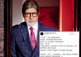 Amitabh Bachchan sends out a hilarious job application to work with Deepika Padukone and Katrina Kaif - check tweet