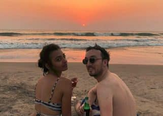 After basking in the glory of Pad Man's success, Radhika Apte is chilling with a glass of wine on a beach in Goa