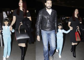 Aaradhya can't stop smiling as she heads to Austria with Aishwarya Rai and Abhishek Bachchan – view HQ pics