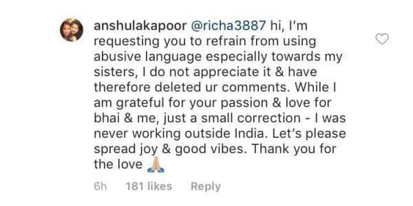 Anshula Kapoor instagram