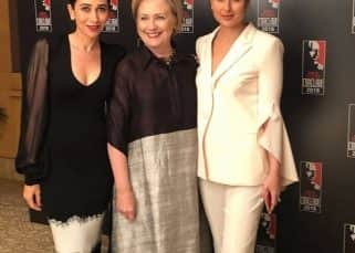 Karishma Kapoor, Kareena Kapoor define Women Power in style with Hilary Clinton