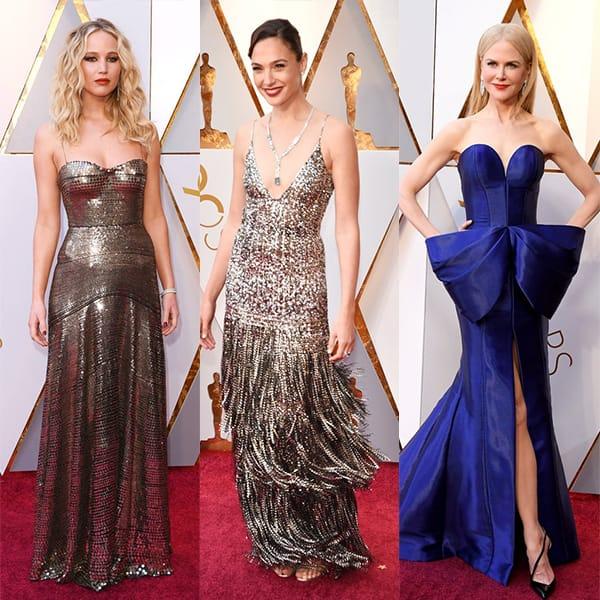 Oscars 2018 Best Dressed Celebs: Gal Gadot, Jennifer Lawrence and ...