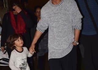 Shah Rukh Khan and son AbRam make a stylish return to Mumbai - view pics