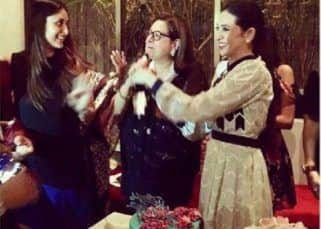 [INSIDE PICS] Kareena Kapoor Khan, Karisma Kapoor ring in mother Babita's 70th birthday