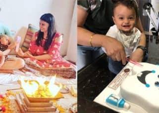 Karan Mehra's son Kavish celebrates his 10th month b'day while Kinshuk Mahajan's kids have their mundan - view pics!