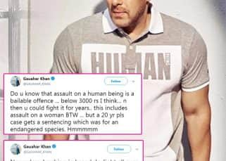 Gauahar Khan shares a cryptic post in support of Salman Khan in blackbuck poaching case