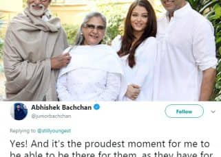 Burn! Abhishek Bachchan puts a troll in place for shamelessly judging his choice to live with his parents