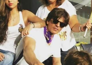 5 pics that prove AbRam had NO interest in watching Kolkata's match against Bangalore with Shah Rukh and Suhana