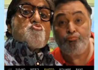 Legend pout! Amitabh Bachchan and Rishi Kapoor join Karan Johar and Kareena Kapoor's pout club - watch video