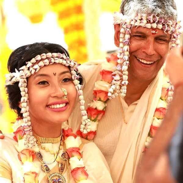 milind soman ankita konwar marriage inside pics