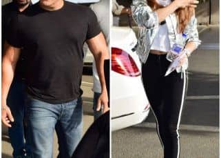 [Photos] Salman Khan and Jacqueline Fernandez take off to Kashmir for the final song of Race 3