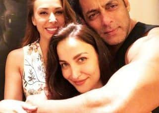 Elli Avram DELETES her gushy pic with Salman Khan and Iulia Vantur; tries covering up by sharing two new photos