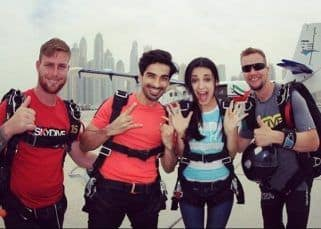 Sanaya Irani and Mohit Sehgal's sky-diving videos are a perfect mid-week inspiration