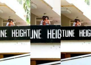 Spotted! Taimur Ali Khan looks all cranky on the balcony. Is he missing Kareena Kapoor Khan?