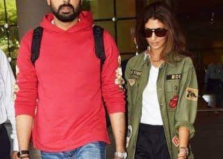 Abhishek Bachchan and sister Shweta Bachchan Nanda make a very stylish appearance at the airport - view pics