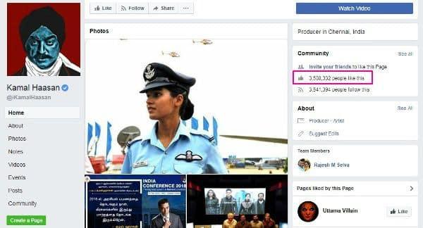 Kamal Haasan facebook
