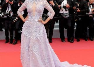 Cannes 2018: Mallika Sherawat impresses in a lilac gown with bold embellishment - view pics