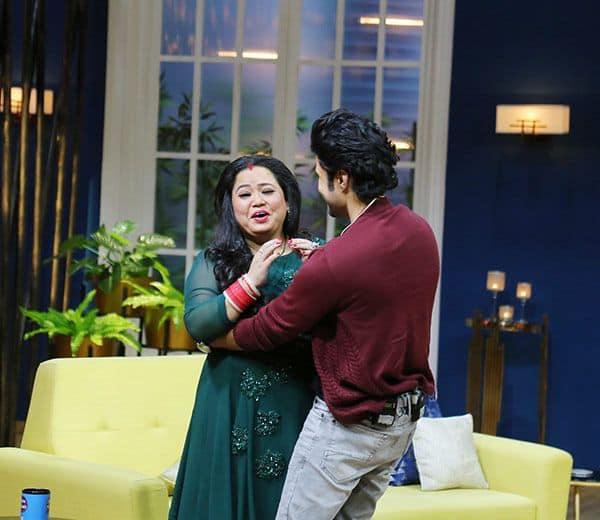 Rajeev-Khandelwal-faint-on-JuzzBaatt-sets---Pranks-Bharti-Singh-(2)