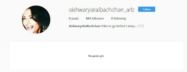 Aishwarya Rai Bachchan on Instagram