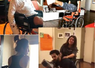 Farah Khan injures her leg, and her wheelchair becomes a fad among Bollywood celebs - view pics and videos