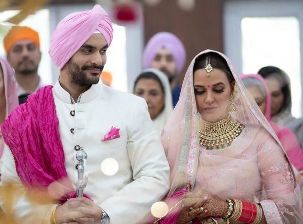 neha dhupia angad bedi marriage 1