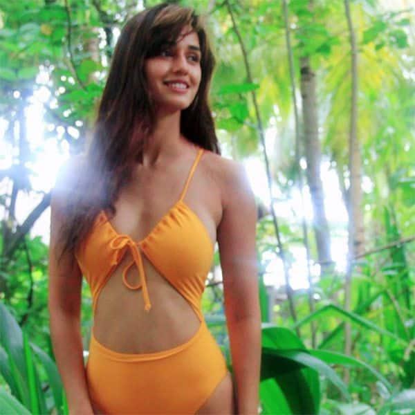 Image result for latest images of disha patani in orange monokini