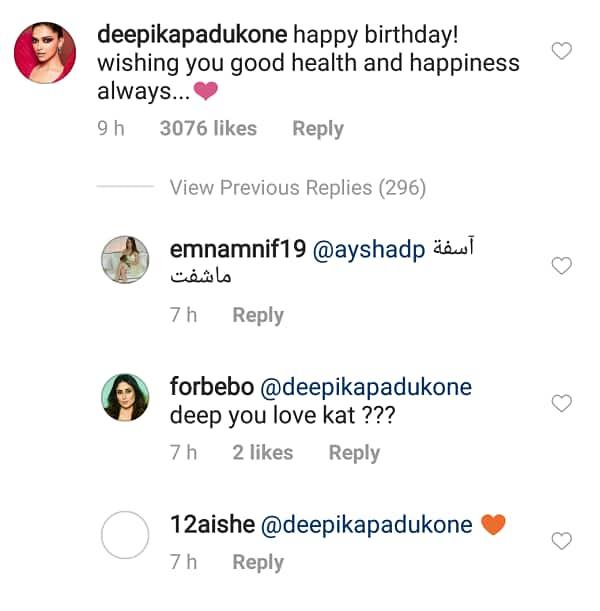 Deepika Padukone wishes Katrina Kaif on her birthday and