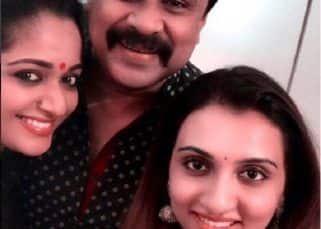 Dilleep and wife Kavya Madhavan meet singer Kavya at her Mumbai residence - view pic