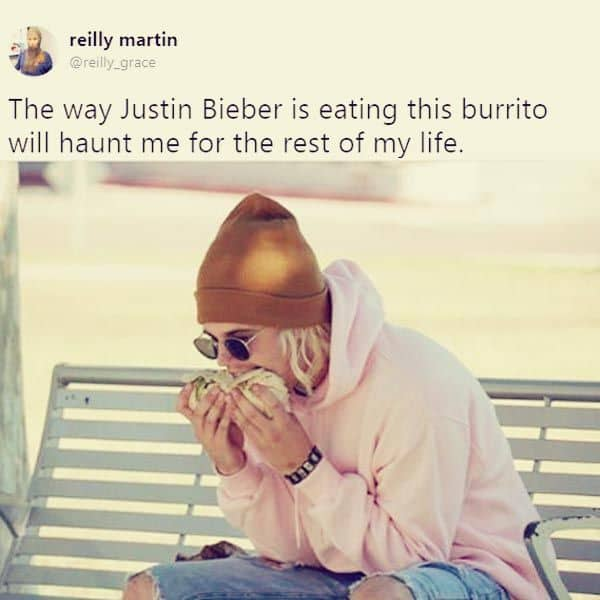 Viral Photo Of Justin Bieber Eating Was Staged With A Canadian Lookalike