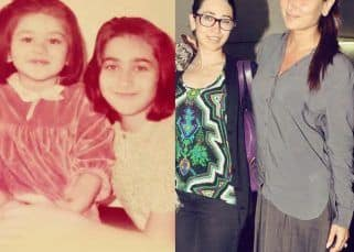 #WonderWednesday: Doting elder sister Karisma Kapoor holds little Kareena close in this adorable throwback picture