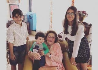Taimur, Samiera and Kiaan remember 'big daadi' Krishna Raj Kapoor with this throwback pic shared by Karisma