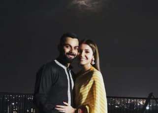 'My life. My universe,' says Virat Kohli as he spots the moon with Anushka Sharma on Karva Chauth - view pics