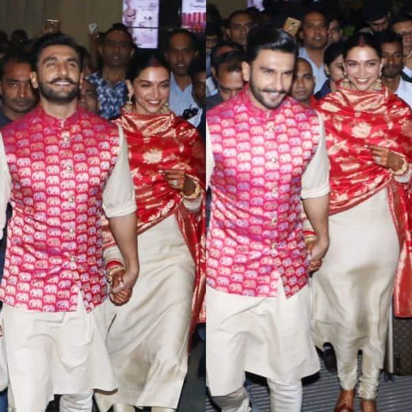 Newlyweds Ranveer Singh and Deepika Padukone arrive in Mumbai; head to Bhavnani residence for Griha Pravesh - view pics