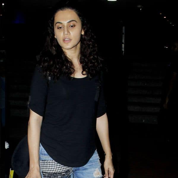 tapsi pannu spotted at airport