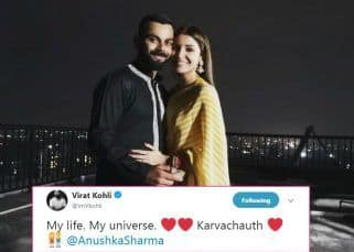 Virat Kohli and Anushka Sharma's first Karva Chauth picture becomes the MOST LIKED TWEET of 2018