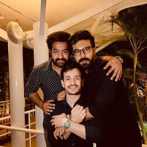 Akhil Akkineni, Ram Charan and Jr NTR are a perfect 'tag team' in this picture – view here