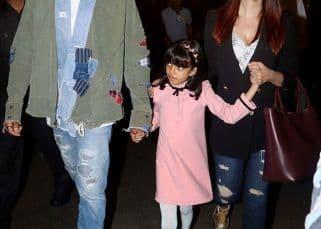 [HQ Pics] Aishwarya Rai, Abhishek and Aaradhya Bachchan return to the bay after their New Year holidays