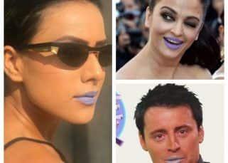 Nia Sharma joins the league of Joey Tribbiani and Aishwarya Rai Bachchan, thanks to the purple lipstick!