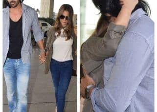 Harshvardhan Rane and Kim Sharma's kiss at the airport will make you want to plan a date with your bf - view pics