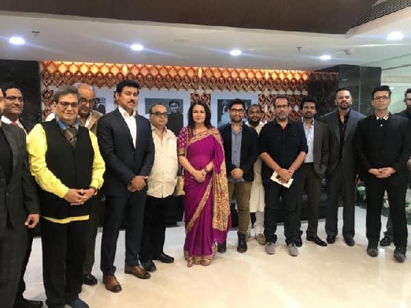 Aamir Khan, Karan Johar, Rohit Shetty and others at National Museum of Indian Cinema inauguration by Narendra Modi