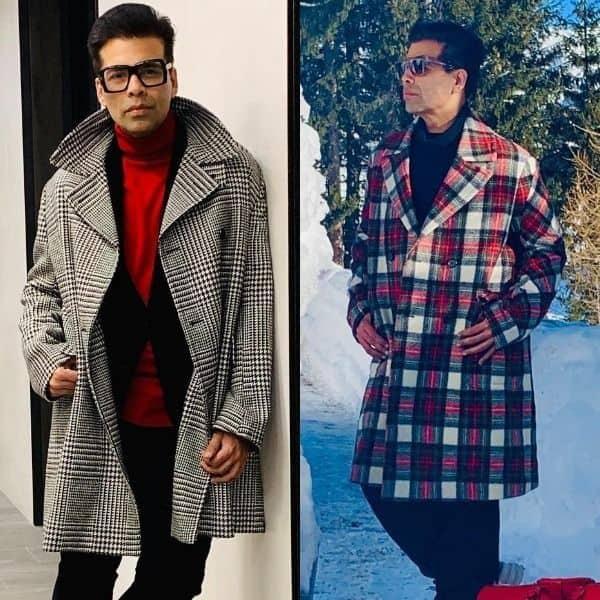 Davos diaries: Karan Johar's winter style statement with plaid overcoa...